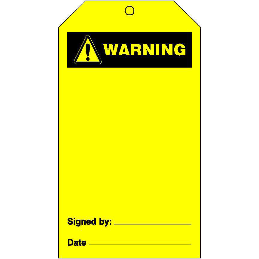 accident prevention tags ties warning signs zero harm farm